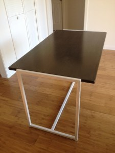 Charcoal and White table