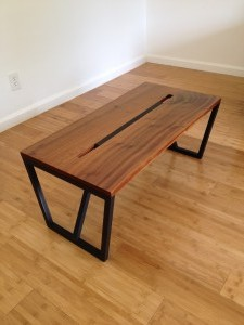 Mahogany/black Coffee Table